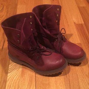 Timberland new no box burgundy boots 7.5
